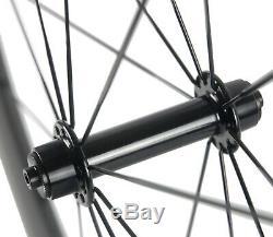700C Alloy Brake Surface 38/50/60/80mm Carbon Wheelset Carbon Wheels Road Bike