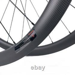 700C Carbon Disc Brake Wheelset Cyclocross Road Disc Gravel bike wheels Tubeless