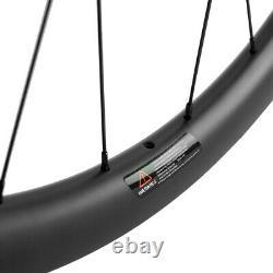 700C Carbon Fiber Gravel Bike Wheelset 38mm Tubeless Road Disc Brake Wheels