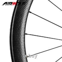 700C Carbon Fiber Road Bike Wheelset Racing Wheels Disc Center Lock DT350 Hub