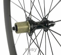 700C Carbon Fiber Wheels 60mm Clincher Wheelset Road Bicycle/Bike Carbon Wheels