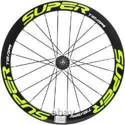 700C Carbon Fixed Gear Wheels 50mm Road Wheelset Superteam Track Bike Wheelset