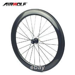 700C Carbon Road Wheelset 6025mm Bicycle Wheels Clincher R13 Hub Rim Brake