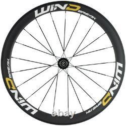 700C Carbon Wheels 50mm Clincher Road Bike 25mm Width UD Matte Basalt Wheelset