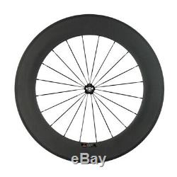 700C Carbon Wheels Clincher 88mm Road Bike Wheelset Racing Wheels Basalt Brake