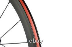 700C Clincher 50mm Carbon Fibre Wheels Matte Finsih Road Bike Carbon Wheelset