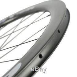 700C Disc Brake Wheelset 50mm Clincher Road Carbon Wheels DT350 center lock Hub