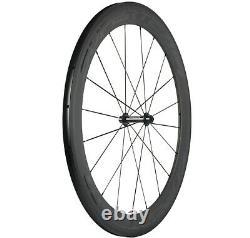 700C Front 60mm+Rear 88mm Carbon Wheels Road Bike 60+88mm Clincher 23mm Width 3K
