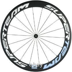 700C Full Carbon Fiber Wheels Road 38/50/60/88mm Front+Rear Carbon Wheelset 23mm
