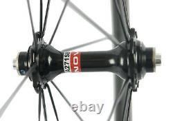 700C Road Bike Carbon Cycle Wheels 60mm Depth Carbon Wheelset Novatec 271 Hub