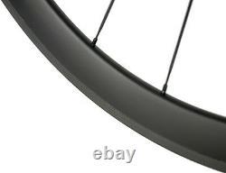 700C Road Bike Carbon Wheels 60mm 25mm Clincher Carbon Wheelset Novatec 271 Hub