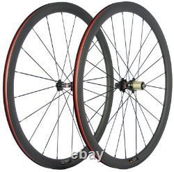 700C Road Bike Carbon Wheelset 38mm 23mm Clincher Race Carbon Wheels Novatec 271