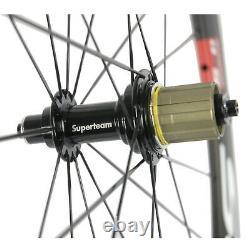 700C SUPERTEAM Carbon Wheels Road Bike Clincher 50mm Road Bicycle Wheelset