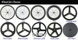 700C Superteam 50mm Clincher Carbon Bicycle Wheels Road Bike Carbon Hub Wheelset