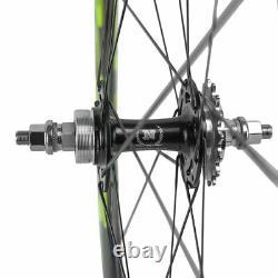 700C Superteam Clincher Carbon Wheelset 50mm Road BIke Fixed Gear Carbon Wheels