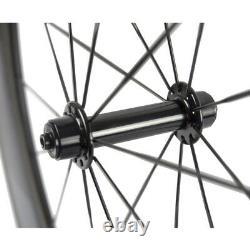 700C Windbreak 88mm Bike Wheelset Road Carbon Clincher Bicycle Wheels R13 Hub