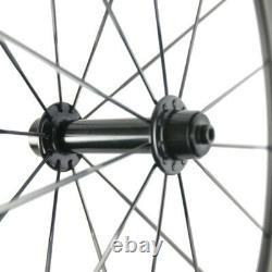 700C Windbreak 88mm Carbon Wheelset Clincher Road Bicycle Racing Carbon Wheels
