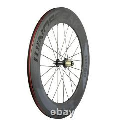 700C Windbreak 88mm Depth Carbon Wheelset 3k Matte Clincher Carbon Wheels Road
