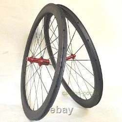 700C wheelset 27mm wide road bike wheelset Clincher 50mm road bike carbon wheels
