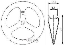 70mm Tri Spoke Carbon Wheels Road Bike/Track Bike Clincher Wheelset Front+Rear