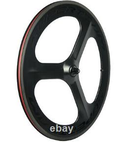70mm Tri Spoke Front Wheel Road Bike Clincher Bicycle Wheel Front 700C Tri Spoke
