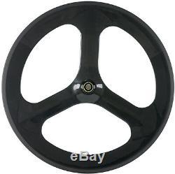 70mm Tri Spoke Rear Wheels Bicycle Carbon 3 Spoke Wheel Road Bike Tri Spoke 700C