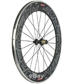 80mm Carbon Wheels Road Bike Cycle Wheelset Aluminum/Alloy Brake Track Shimano