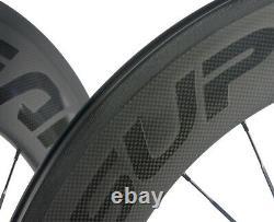 88mm 23mm Clincher Carbon Bike Wheelset Road Bike Cycle Race Wheels 700C Matte