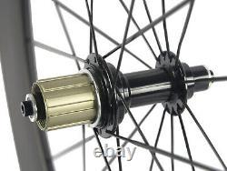 88mm Rear Carbon Bicycle Wheel Road Bike Clincher 23mm Width Carbon Wheel 700C