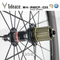 88mm T800 Carbon Fiber Road Racing Bicycle Wheels Aero Carbon Bike Wheelset OEM
