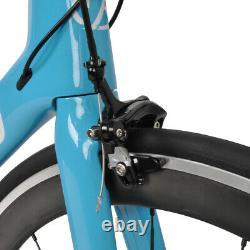 AERO Carbon Frame Road Bike 700C Alloy Wheel Clincher Fork Seatpost V Brake