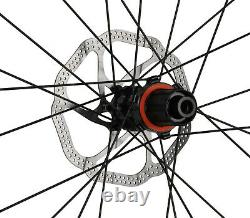 Aero Carbon frame Road Bike Wheels Clincher Tubeless Rotors 700C Disc Brake 56cm