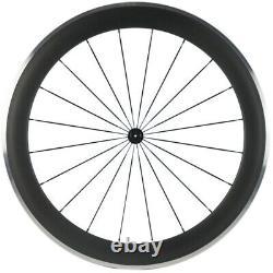 Aluminium Brake Surface 60mm Clincher Carbon Wheelset Road Bicycle Wheels Matte