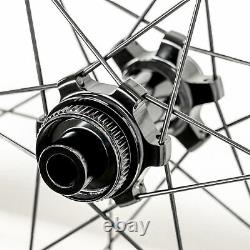BOREAS Carbon Road Bike Wheels Disc Brake Shimano Compatible Wheelset Thru Axle