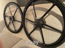 Bike Ahead Composites Biturbo Road 6 Spoke Clincher Carbon Wheels