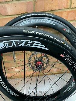 Bike Wheel Halo Carbaura RC50 / 60 mm Carbon Road Race Wheel Set Pair