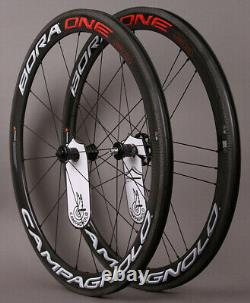 Campagnolo Bora One 50 Carbon Clincher Road Bike Wheels Ceramic Bearings Bright
