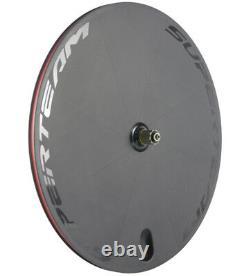 Carbon Bike Disc Wheel 700C Track/Road Bike Disc Rear Wheel Fixed Gear Clincher