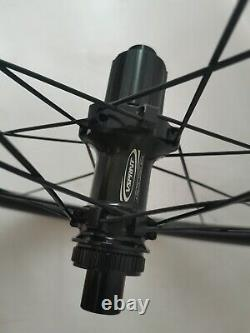 Carbon Disc Brake Wheelset 38mm Road Bike Tubeless Thru Axle/QR Bicycle Wheels