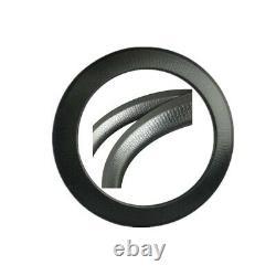 Carbon Rim with Dimple Finish 700C 80mm Clincher 25mm Wide Road Bike V-brake Rim
