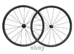 Carbon Wheels Clincher Tubeless road bicycle wheelset 700C race 30mm Rim matt