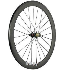 Carbon Wheels Road Bike Clincher Wheelset 50mm Depth 12K Matte Novatec 271 700C
