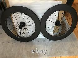 Carbon Wheelset 88mm Depth 23mm Road Bike Clincher Carbon Wheels UD Matte Finish