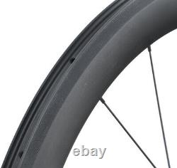 Carbon wheels Road bike rim brake Chosen 55mm 700C Clincher Tubeless Race cycle