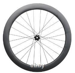 Center Lock Disc Brake Road Bike Wheels Carbon Clincher Tubeless 700C 55mm rims