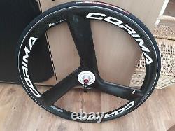 Corima Carbon 3 Spoke Front Road Wheel Tubular