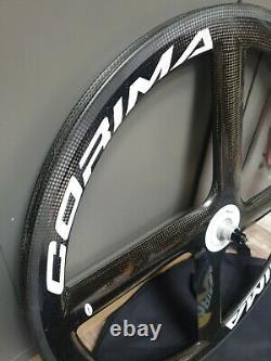 Corima Carbon 4 Spoke Front Road Wheel Tubular