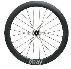 DISC BRAKE full carbon wheels 700C road bicycle rims clincher tubeless 55mm deep