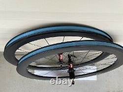 DT Swiss Carbon Clincher Road Bike Wheels (Novatec Rims). Rim Brake. 11S/Shimano