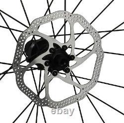 Disc brake Carbon Wheels Rotors Clincher Tubeless Road Bicycle Rim 700C 55mm